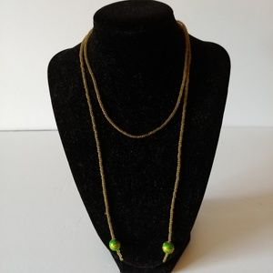 Jewelry - Unique Glass Bead Necklace Beaded Accessory